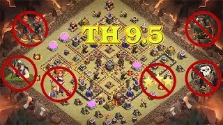 TH 9.5 Base war 2017 ( no xbow 3rd and no inferno ) Th 9.5 anti troop th 11