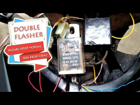 Cara Menggunakan Double Flasher ( Hazard Kedip Normal & Sein Kedip Cepat)