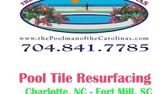 Pool Tile Repair and Replacement Charlotte, NC- Fort Mill , Sc