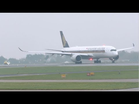 Singapore Airlines A350 Aborts Take off at Manchester due to engine issue!