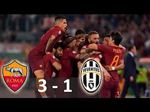 As Roma Vs Juventus 3 1 All Goals Extended Highlights 14 05 2017 Serie A Youtube