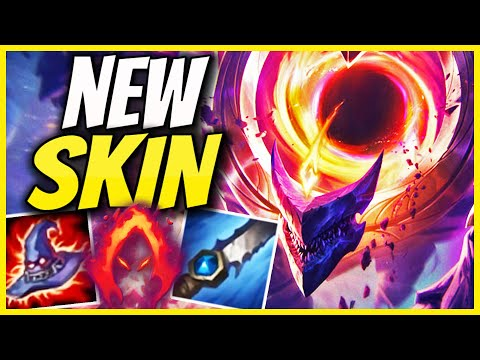 *NEW SKIN* Dark Star Malphite | Dark Harvest AP Jungle Malphite Edited Gameplay - League of Legends