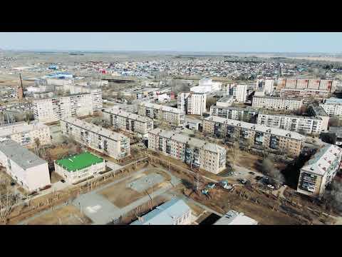 Южноуральск с высоты апрель 2019 4KUHD