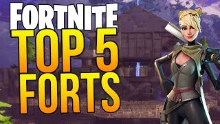 TOP 5 BEST FORTS in FORTNITE (Fortnite Top 5 Bases)