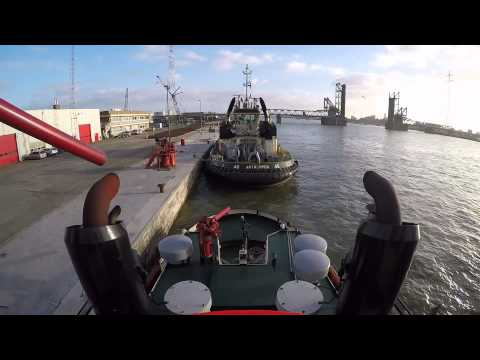Tugboat Startup and Leaving Berth