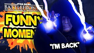 Star Wars Battlefront 2 Funny & Random Moments [FUNTAGE] #51 - The Emperor Is Back!
