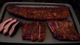 """Smoked Bbq Baby Back Ribs """"texas Style"""""""