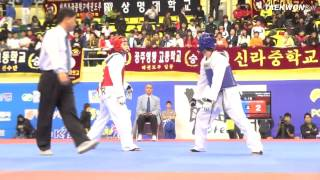 7th Korea Open Taekwondo Championships Semi Final Male Senior 1  54Kg Lizardo vs Park.