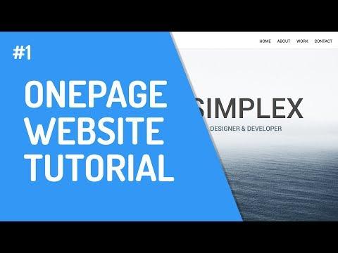 [1] One-Page Website Mit HTML & CSS | Einführung & Struktur
