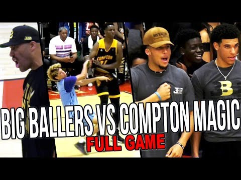 Big Ballers VS Compton Magic REMATCH FULL GAME RECAP - DOUBLE OT w/ Lonzo Ball & NBA Stars Watching