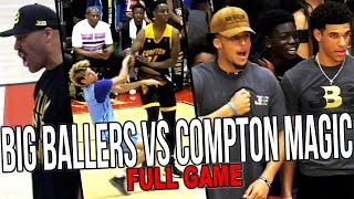 LaMelo Ball & Big Ballers VS Compton Magic REMATCH FULL GAME HIGHLIGHTS! Lonzo, James Harden & More!