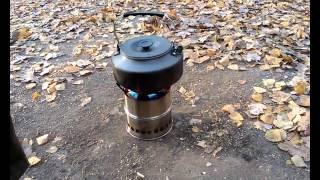 Печка щепочница за 22$ для чаепития в парке или на пикнике/шашлыках