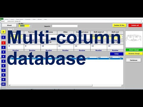 Multi column database with search engine and images in Excel VBA