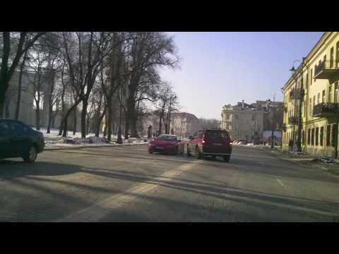 Weather & road accident in Vilnius, Lithuania, 2010-03-08, Womens day, t - 2 C from Oras TV