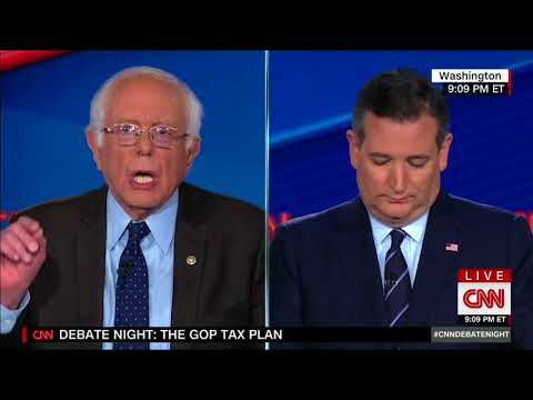 Sen. Cruz and Sen. Sanders Debate Tax Reform on CNN - October 18, 2017