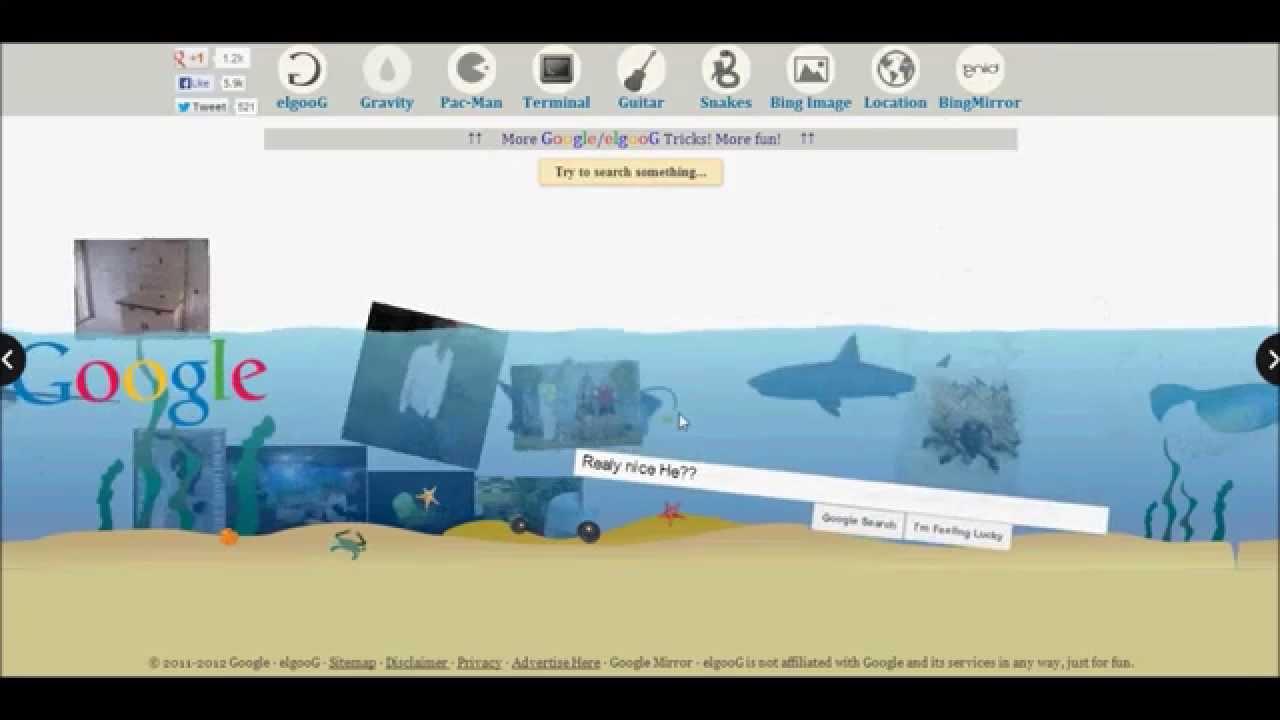 New 8 Google Tricks Magic Google Loco Upside Down Underwater Gravity Pac Man Terminal Youtube