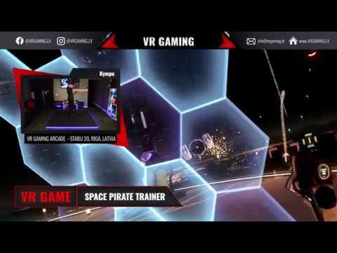 Space pirate trainer - VR spēles ieskats