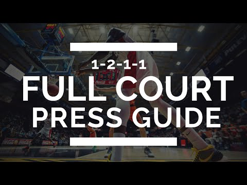 Youth basketball full court press - 1-2-1-1 diamond