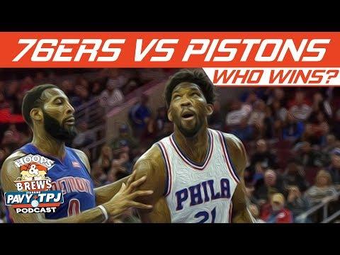 Who Wins Philadelphia 76ers vs Detroit Pistons | Hoops N Brews