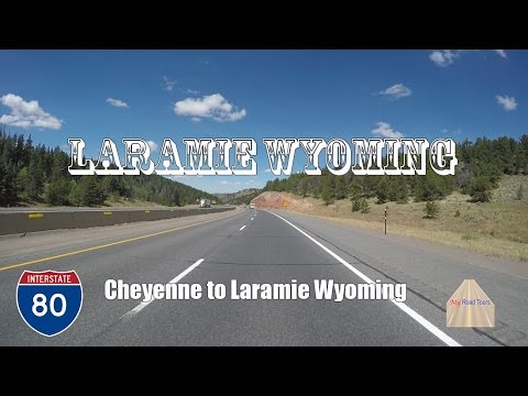 Driving scenic I-80 from Cheyenne to Laramie Wyoming