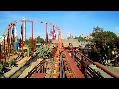 Pony Express front seat on-ride HD POV Knott's Berry Farm