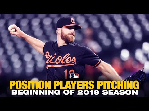 Position Players Pitching - Start of 2019