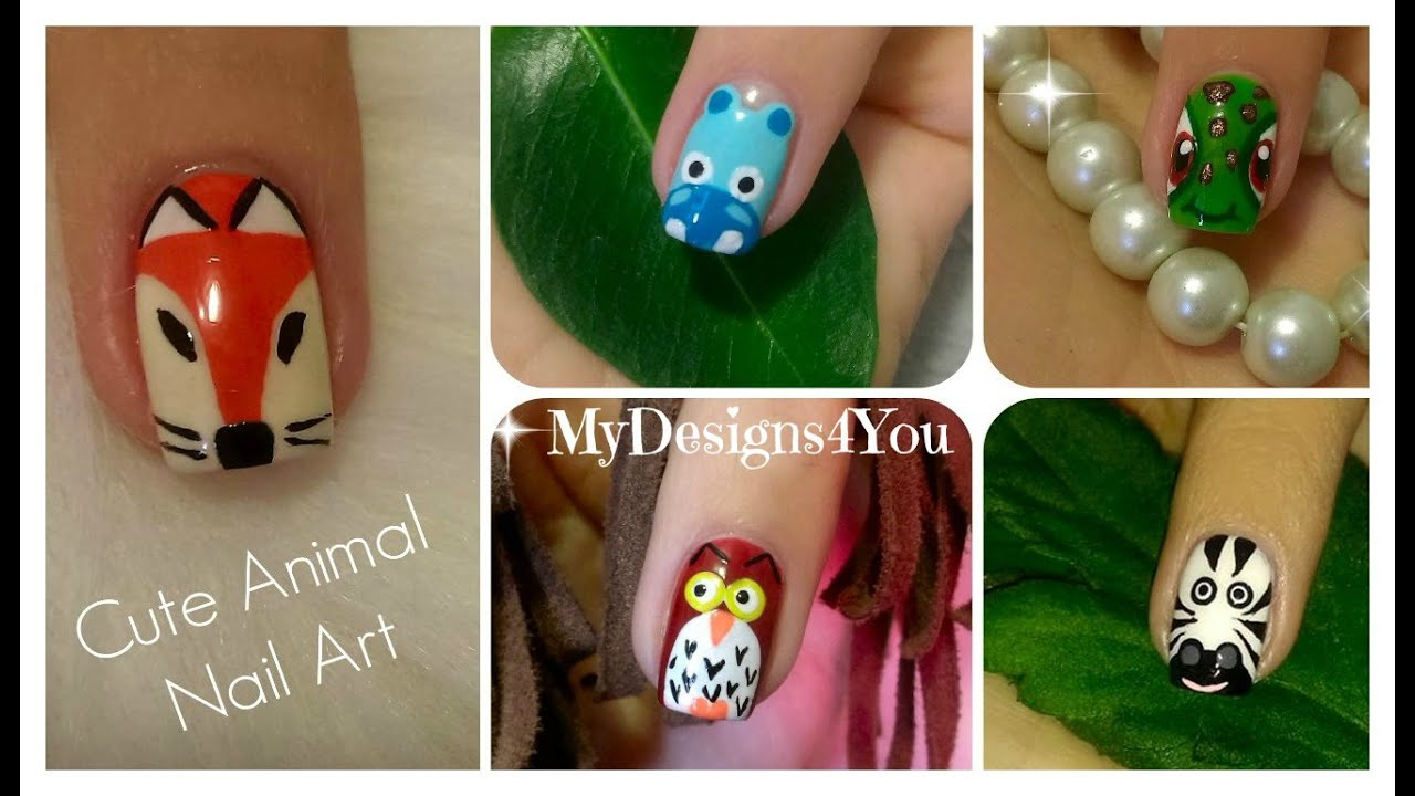 Animal Nail Art Compilation No.2 - YouTube