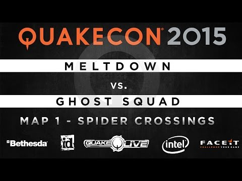 Meltdown vs. Ghost Squad - Map 1 - Spider Crossings (QUAKECON 2015 CTF)