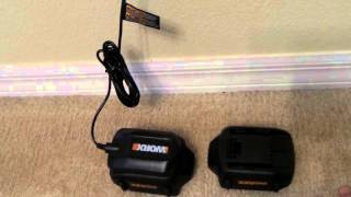 WORX 32V MaxLithium WORX GT 2.0 Grass Trimmer / Edger / Mini-Mower BATTERY AND CHARGER
