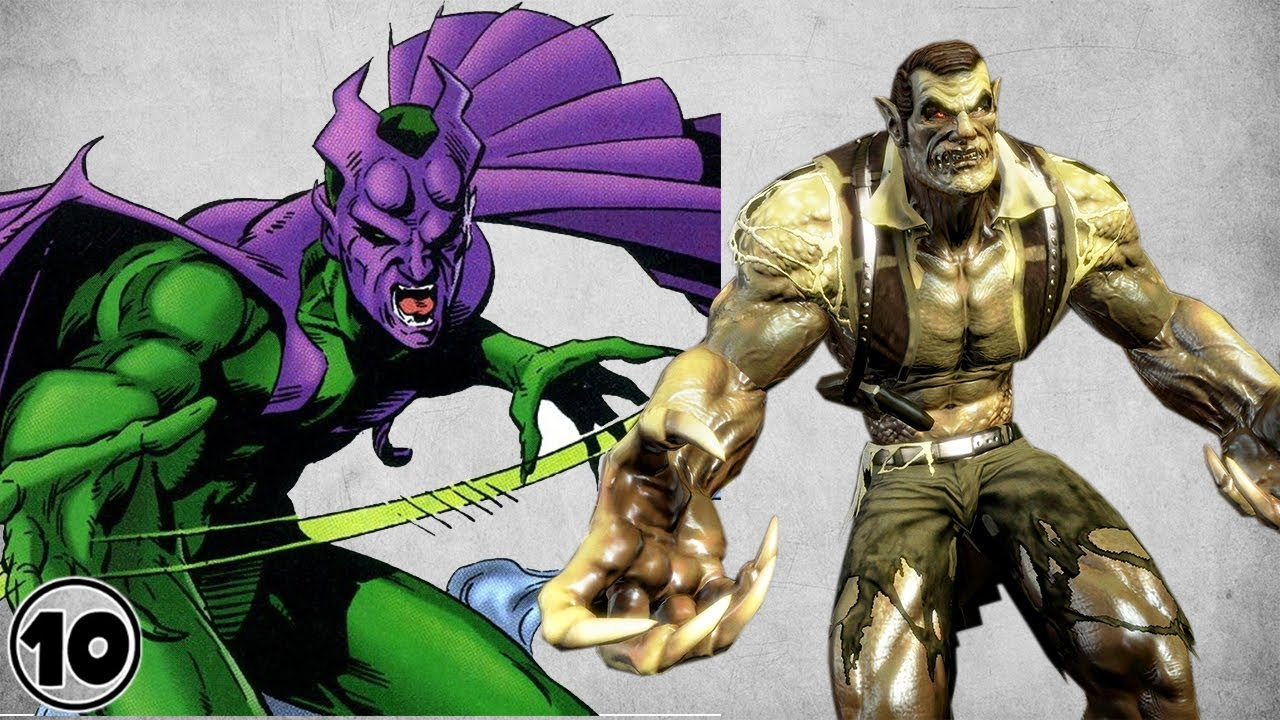 top 10 alternate versions of the green goblin youtube