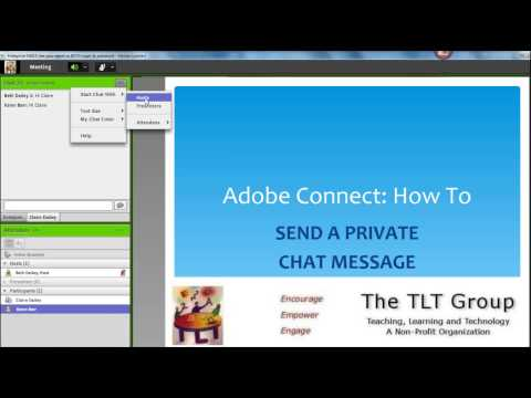 Adobe Connect: How To Send A Private Chat Message