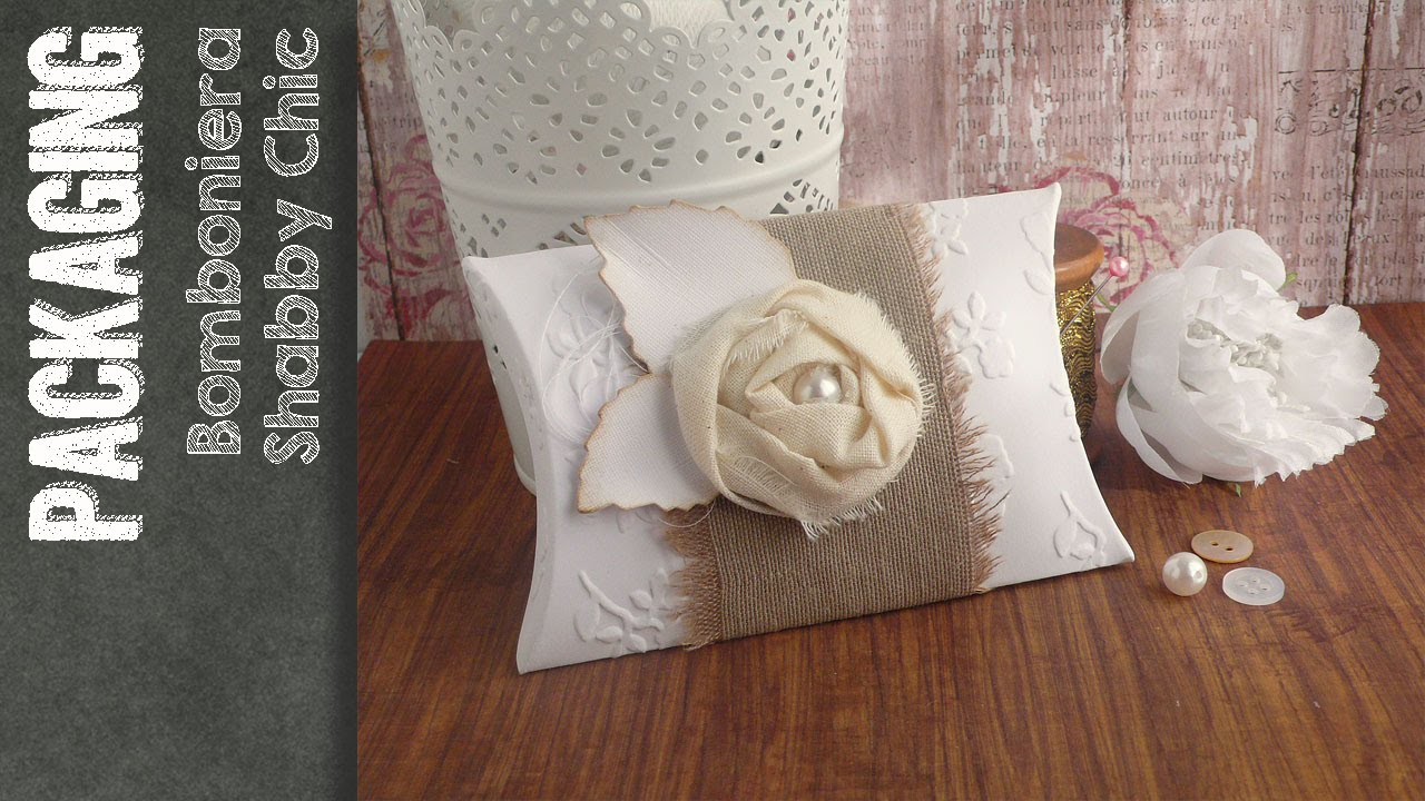 Pillow Box Shabby Chic - Scatolina bomboniera portaconfetti - YouTube