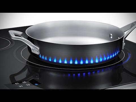 Samsung Induction Stove Has Fake Flames To Tell You How Hot Is The