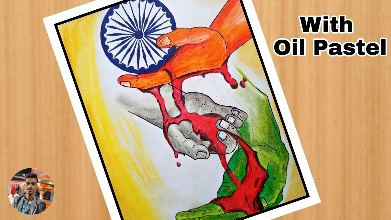 Independence Day Drawing With Watercolor Step By Step Patriotism Drawing Republic Day Drawing Youtube