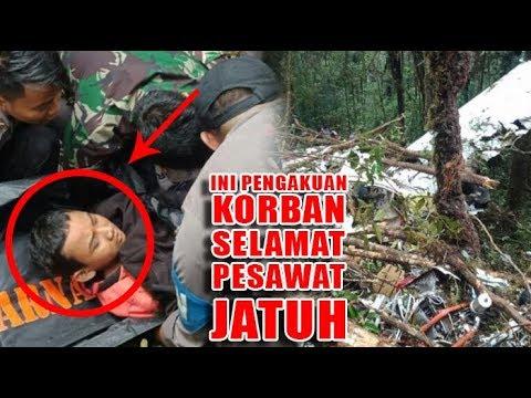 Ini Dia Kesaksian Satu-satunya Penumpang Selamat Pesawat Jatuh di Papua