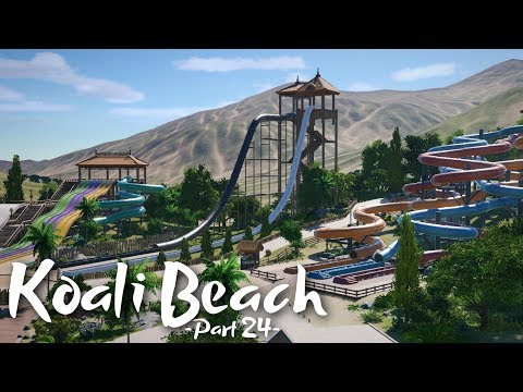 Planet Coaster - Koali Beach (Part 24) - More Waterslides!