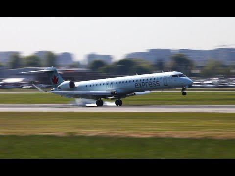 Air Canada Express CRJ-705 Landing At YVR