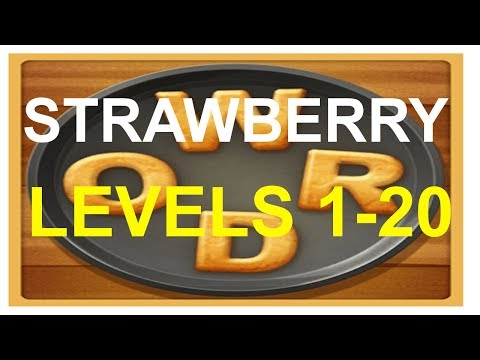 Word Cookies Strawberry Level 1-20 Plus Special Level Answers