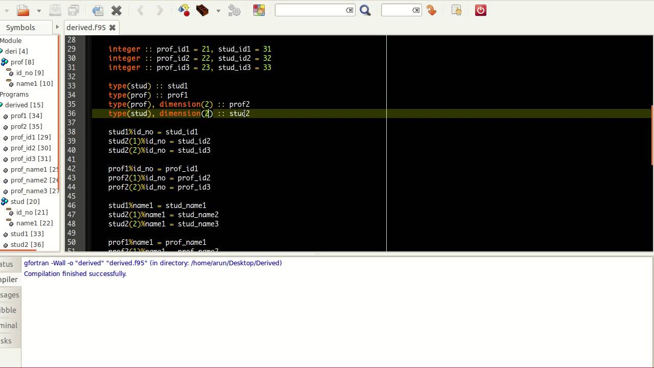 Lecture 21: Derived Data Types   CosmoLearning Programming