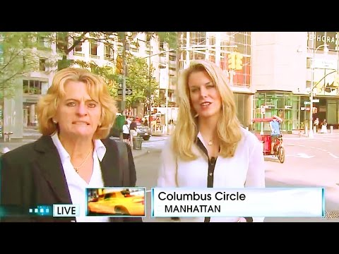 Reporter Video Bombed By Very Strange Woman At Columbus Circle, Manhattan #PRESIDENTIALCANDIDATE