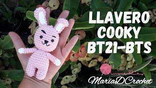 Llavero Cooky BTS BT21// Keychain Cooky BT21// Amigurumi Cooky MariaDCrochet
