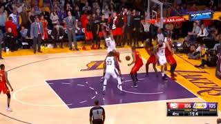 Lakers vs hawks final seconds