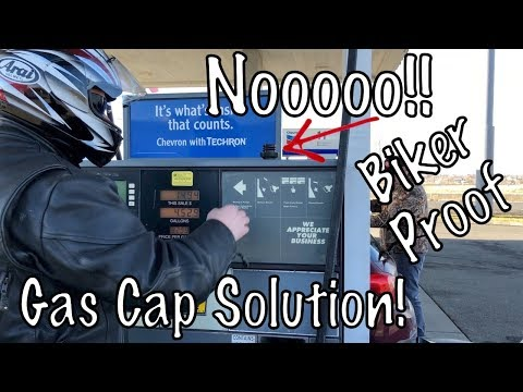 Motorcycle Fuel Gas Cap Magnet Keeper by Rickrak-How to Install-Biker Review