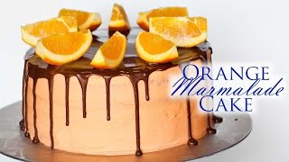 Orange Marmalade Cake With Chocolate Ganache
