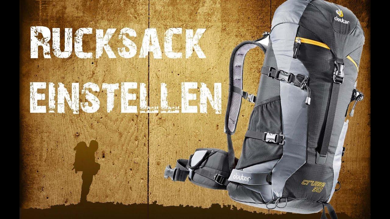 2822560bacbac Backpacking - Trekkingrucksack richtig einstellen  HD  - YouTube