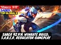 Saber 929% Winrate Build, Saber Regulator Gameplay Top Global 2 Saber | Winneяʑ  荣誉° Saber