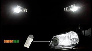 ✔✔✔ НОВЫЙ ФОРМАТ ГАБАРИТНЫХ ОГНЕЙ!!! (Замена ламп T10 CNSUNNY LIGHT W5W LED 3030 CANBUS 5500K) ✔✔✔