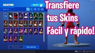 HOW TO TRANSFER SKINS AND BAILES IN FORTNITE (NEW METHOD)