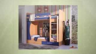 Двухъярусные кровати для детей  Обзор в помощь родителям  Выпуск 3(Двухъярусные детские кровати. Какие они бывают? Представлены различные варианты компоновки и размещения..., 2014-09-25T14:44:49.000Z)