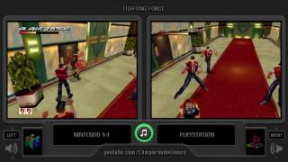 Fighting Force (Nintendo 64 vs Playstation) Side by Side Comparison
